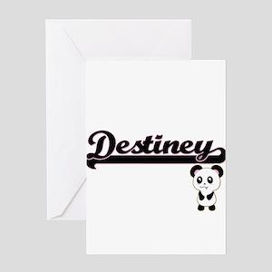 Destiney Classic Retro Name Design Greeting Cards