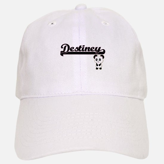 Destiney Classic Retro Name Design with Panda Baseball Baseball Cap