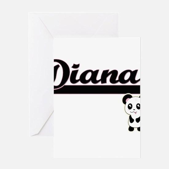Diana Classic Retro Name Design wit Greeting Cards