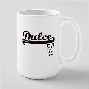 Dulce Classic Retro Name Design with Panda Mugs