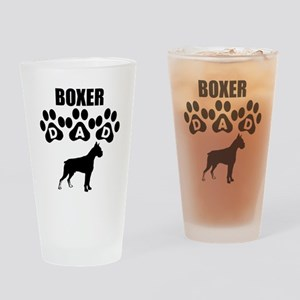 Boxer Dad Drinking Glass