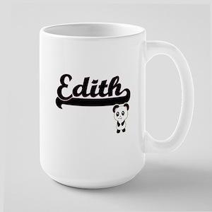 Edith Classic Retro Name Design with Panda Mugs