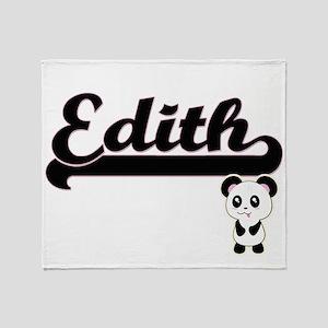Edith Classic Retro Name Design with Throw Blanket