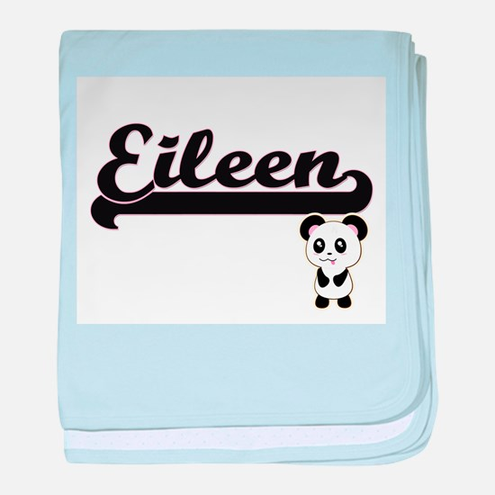 Eileen Classic Retro Name Design with baby blanket
