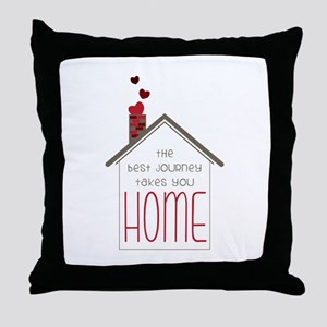 The Best Journey Take You Throw Pillow