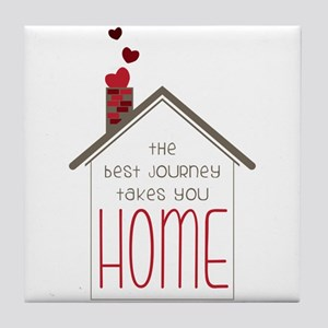 The Best Journey Take You Tile Coaster