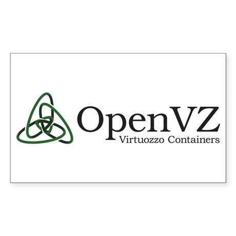 Openvz Sticker (rectangle)
