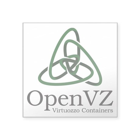 "Openvz Square Sticker 3"" X 3"""
