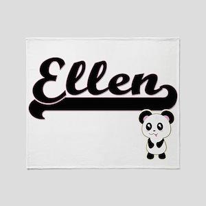 Ellen Classic Retro Name Design with Throw Blanket