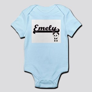 Emely Classic Retro Name Design with Pan Body Suit