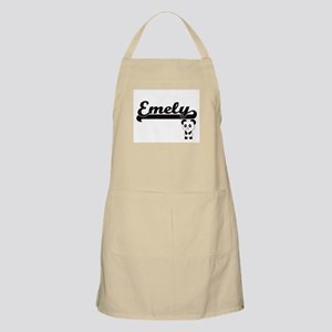 Emely Classic Retro Name Design with Panda Apron
