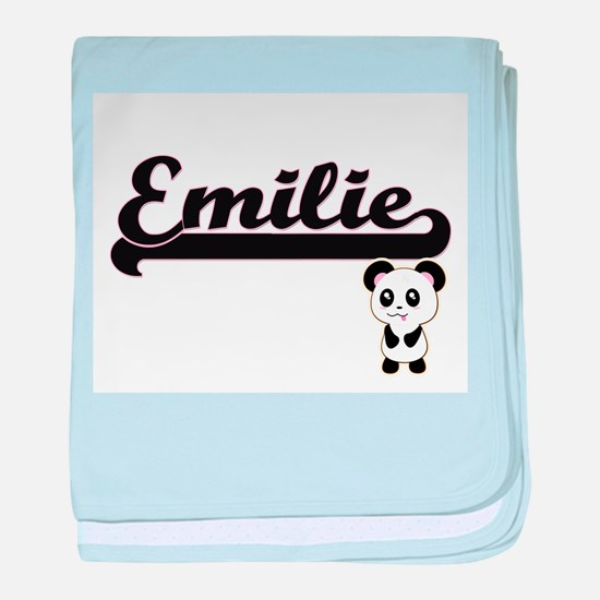 Emilie Classic Retro Name Design with baby blanket