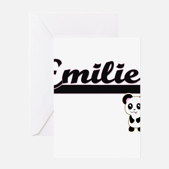 Emilie Classic Retro Name Design wi Greeting Cards
