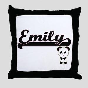 Emily Classic Retro Name Design with Throw Pillow