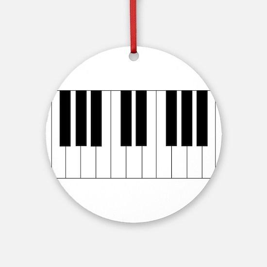 Piano Keyboard Ornament (Round)