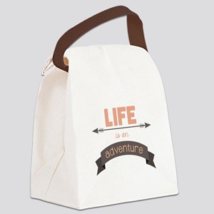 Life Is An Adventure Canvas Lunch Bag