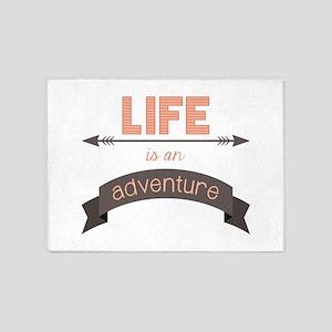 Life Is An Adventure 5'x7'Area Rug