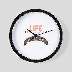 Life Is An Adventure Wall Clock