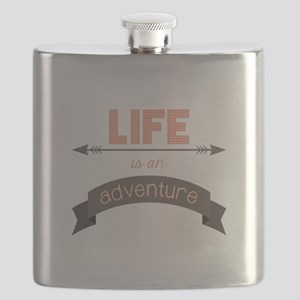 Life Is An Adventure Flask