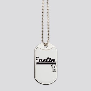 Evelin Classic Retro Name Design with Pan Dog Tags