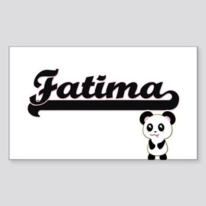 Fatima Classic Retro Name Design with Pand Sticker