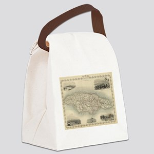 Vintage Map of Jamaica (1851) Canvas Lunch Bag