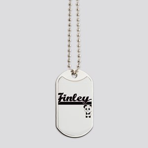 Finley Classic Retro Name Design with Pan Dog Tags