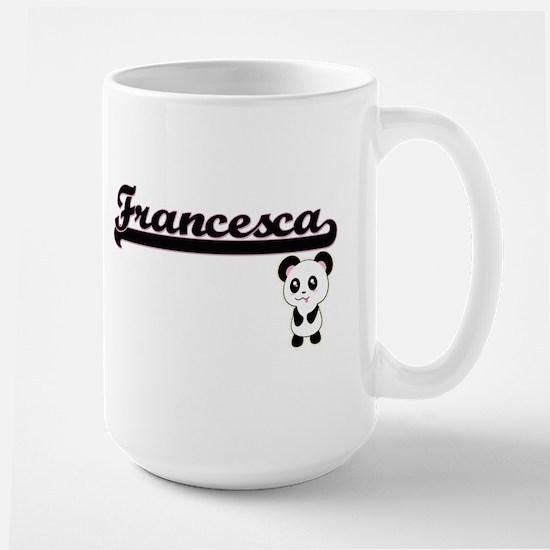 Francesca Classic Retro Name Design with Pand Mugs
