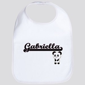 Gabriella Classic Retro Name Design with Panda Bib