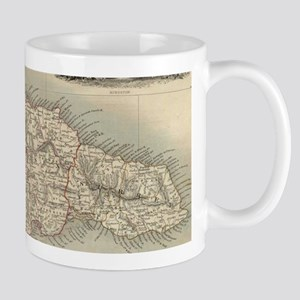 Vintage Map of Jamaica (1851) Mugs