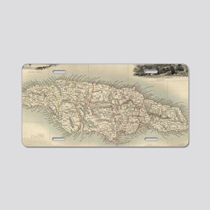 Vintage Map of Jamaica (185 Aluminum License Plate