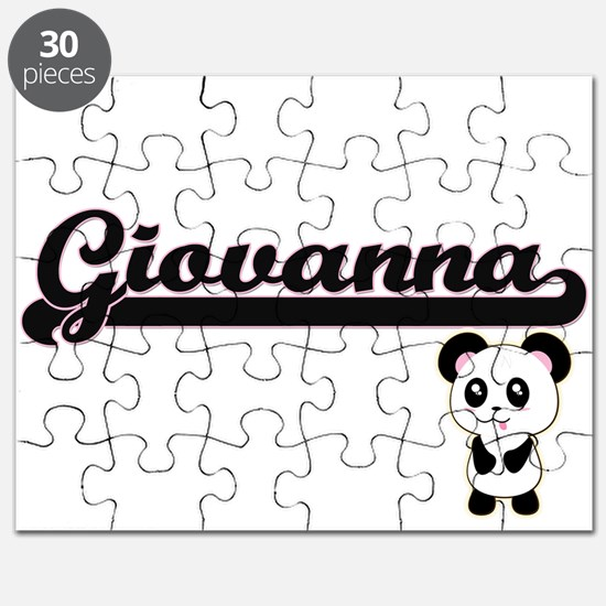 Giovanna Classic Retro Name Design with Pan Puzzle