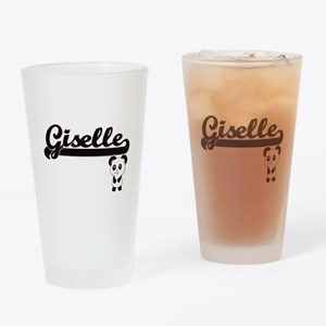 Giselle Classic Retro Name Design w Drinking Glass