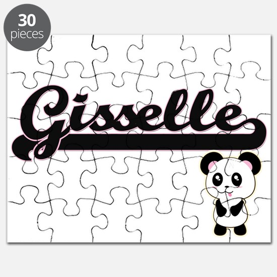 Gisselle Classic Retro Name Design with Pan Puzzle