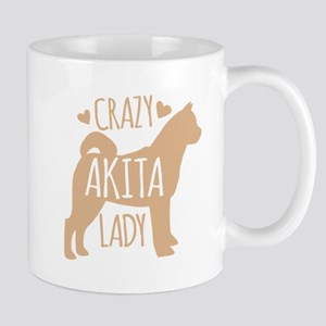 Crazy Akita Lady Mugs