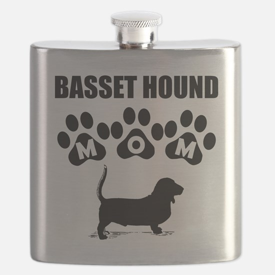 Basset Hound Mom Flask