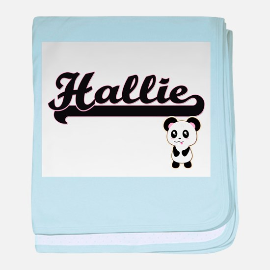 Hallie Classic Retro Name Design with baby blanket