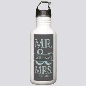 Gray and Blue Mr. and Stainless Water Bottle 1.0L