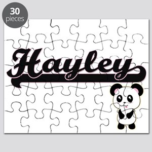 Hayley Classic Retro Name Design with Panda Puzzle