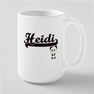 Heidi Classic Retro Name Design with Panda Mugs