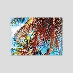 Tropical Palms 5'x7'Area Rug