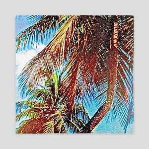Tropical Palms Queen Duvet