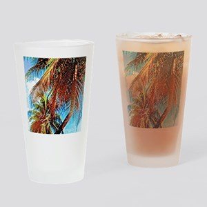 Tropical Palms Drinking Glass