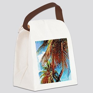 Tropical Palms Canvas Lunch Bag