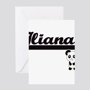 Iliana Classic Retro Name Design wi Greeting Cards