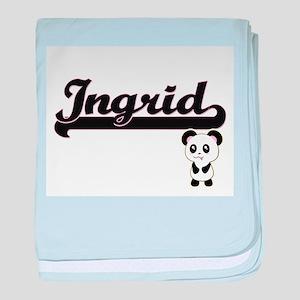 Ingrid Classic Retro Name Design with baby blanket