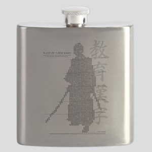 samurai made of education kanji Flask