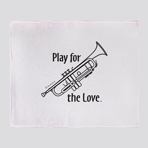 PLAY FOR THE LOVE TRUMPET Throw Blanket