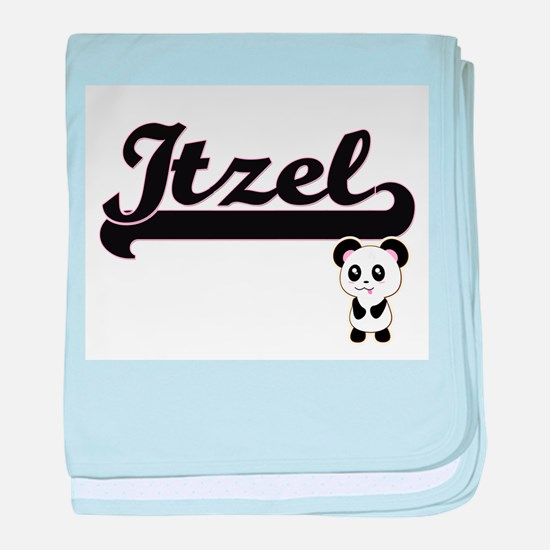 Itzel Classic Retro Name Design with baby blanket