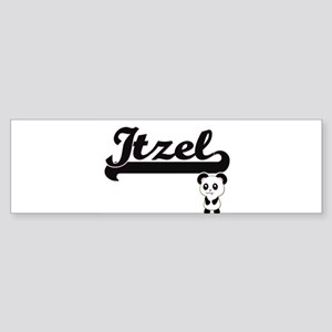 Itzel Classic Retro Name Design wit Bumper Sticker